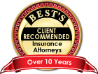 Best's client Recommended | Insurance Attorneys | Listed over 10 years